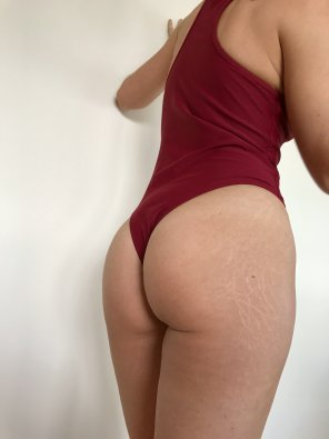 amateur photo Booty in a one piece bathing suit