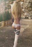 amateur photo Blonde walking away