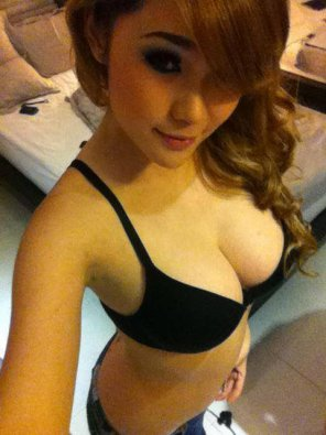 amateur photo Black Bra