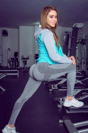 amateur photo Just Yanet Garcia stretching...