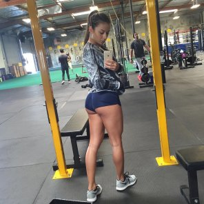 amateur photo Sandra Prikker at the gym