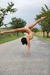 amateur photo Mira out doing some gymnastics