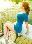 amateur photo Redhead in a tight dress