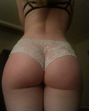 amateur photo Who loves my ass in white panties?