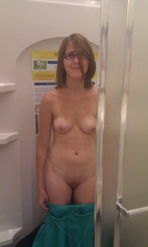 amateur photo Shower on the Sales Floor?