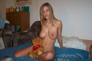 amateur photo Just her and her bear