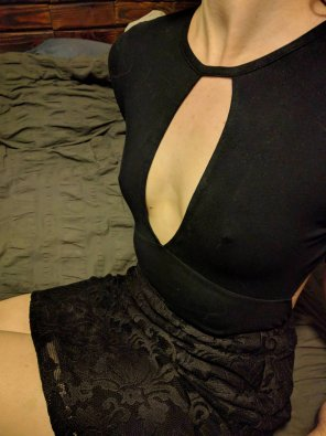 amateur photo Went dancing tonight, like my outfit?