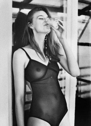 amateur photo Drinking her milk