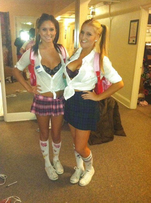Slutty Schoolgirls Porn Photo