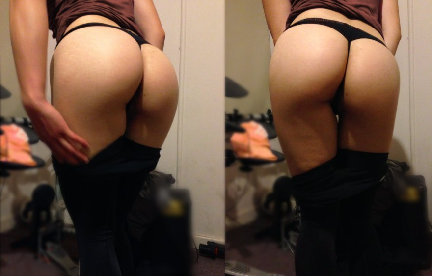 My butt in a thong Porn Photo
