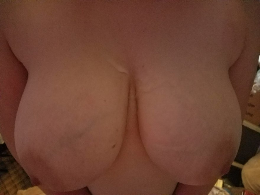 Painting my wife's tits! Porn Photo