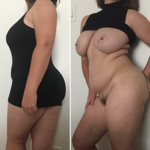 amateur photo On/off, feeling my curves in my little black dress 😘