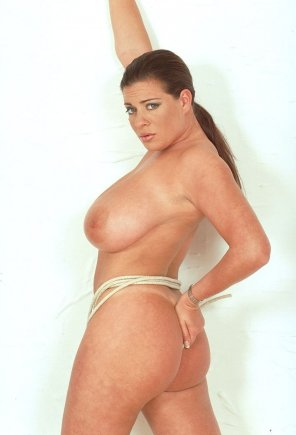 amateur photo Linsey Dawn Mckenzie in a rope