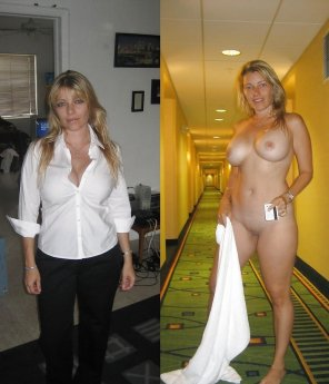 amateur photo Mature chick in a hotel