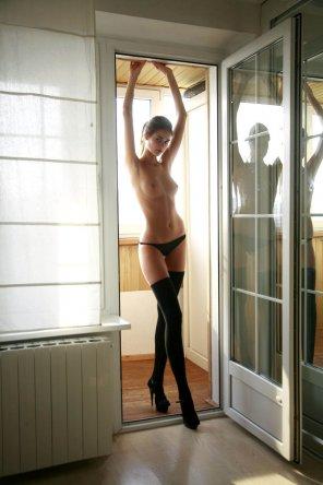 amateur photo On the threshold