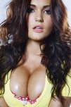 amateur photo Brunette in Yellow