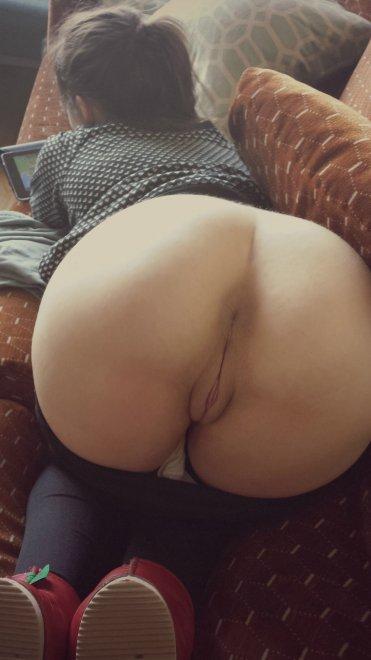 Ripped yoga pants sex ass