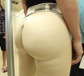 Tight pants big ass in the bus