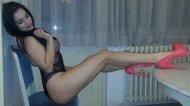 amateur photo Pink heels