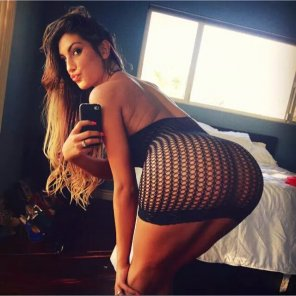amateur photo August Ames selfie