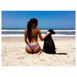 amateur photo A girl and her dog