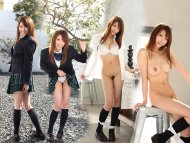 Asian Schoolgirl Strips