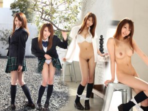 amateur photo Asian Schoolgirl Strips