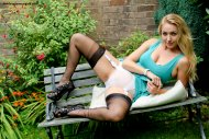 Hayley Marie Coppin in the garden