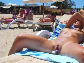 amateur photo Sun tanning