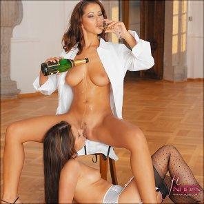 amateur photo Champagne celebration