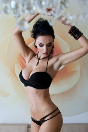 amateur photo Black lingerie