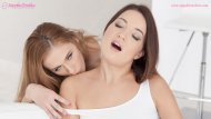 Sensual lesbian lovemaking by Linda Leclair and Roxy Dee