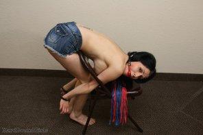 amateur photo Hannah Perez chair cuffed