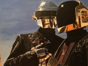 """amateur photo """"Daft Punky Class"""", Acrylics on canvas, 22 x 28"""