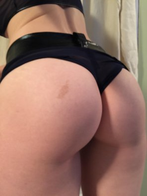 amateur photo My pale ass waiting to be spanked!