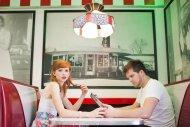 In a diner