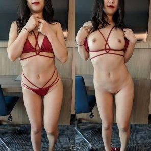amateur photo my bikini on/off 😉
