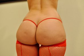 amateur photo [F] Another shot of the peach in the red micro and stockings enjoy!!!