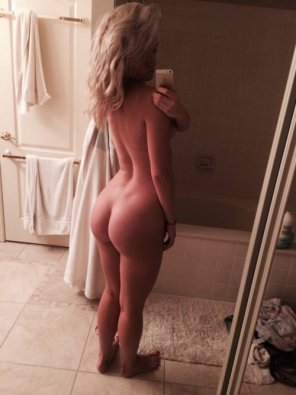 amateur photo In her bathroom