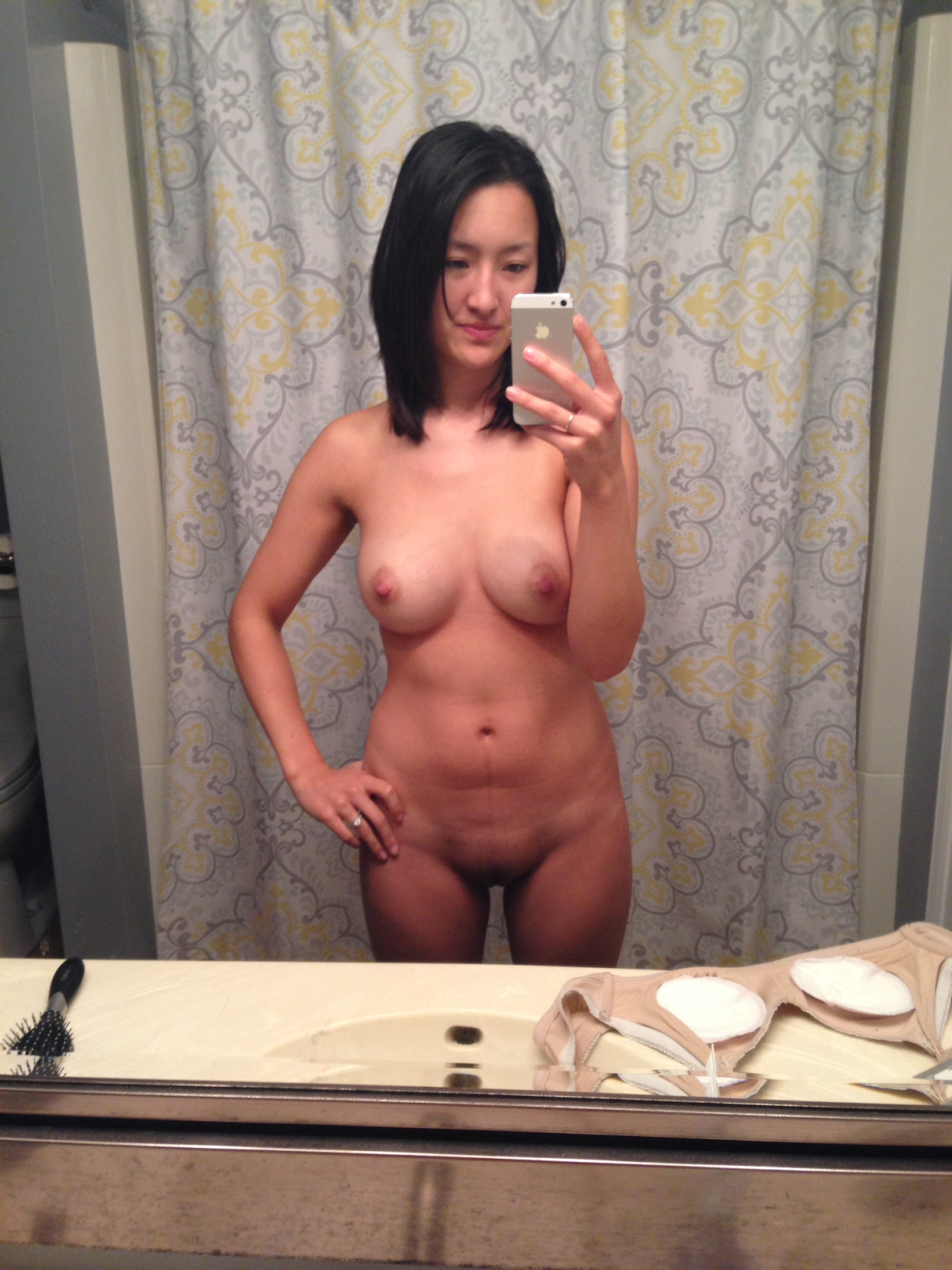 Nude asian selfies