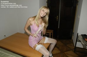 amateur photo Suzanna about to get tied