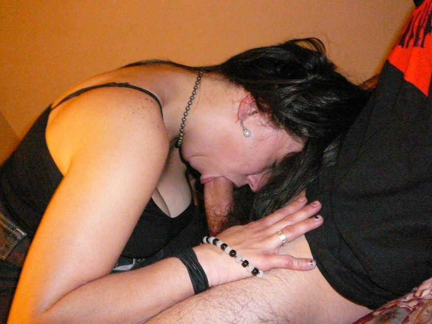 Really into the feeling of it in her throat Porn Photo