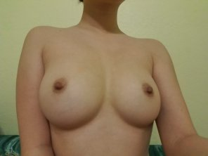 amateur photo Titties out to say hello