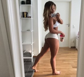 amateur photo Swedish fitness girl