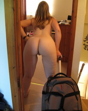amateur photo She packed all of her clothes