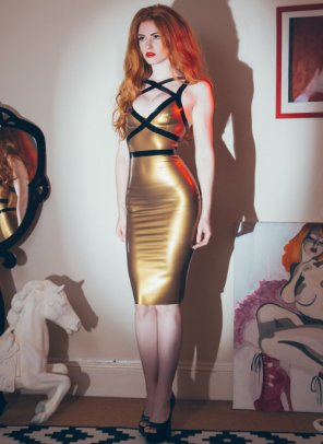 amateur photo In a Gold Dress
