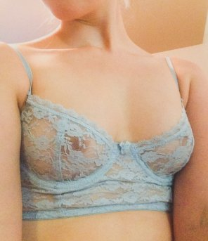 amateur photo I love how this see through lace bra makes me feel 💕
