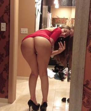 amateur photo Lovely asselfie