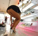 amateur photo Milf buying some shoes