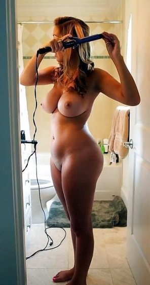 amateur photo Getting ready for her date with you